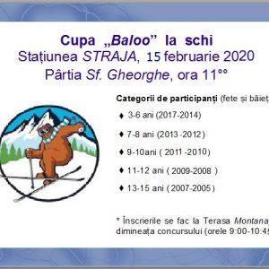 """Ursul Baloo – sărbătorit, în weekend, la Straja. """"Mascota"""" stațiunii împlinește 20 de ani"""